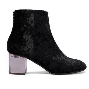 Rag & Bone Drea Crushed Velvet Ankle Boot in Black